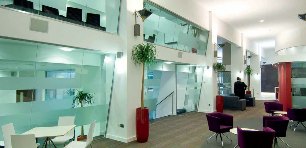 Aspire Office Solutions – Frameless Glass Partitioning Polar Single 2