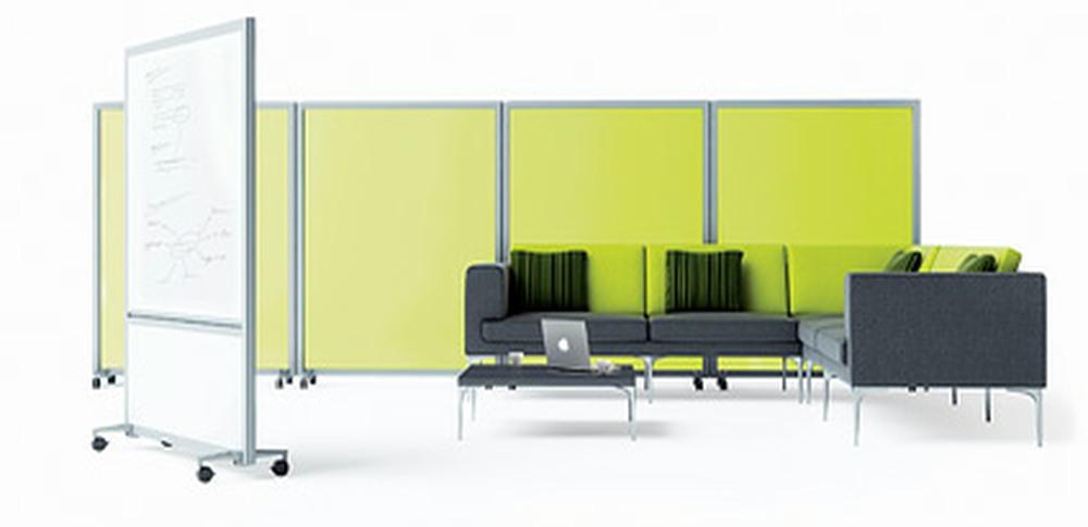Aspire Office Solutions – Mobile Screens Orangebox Bay 1