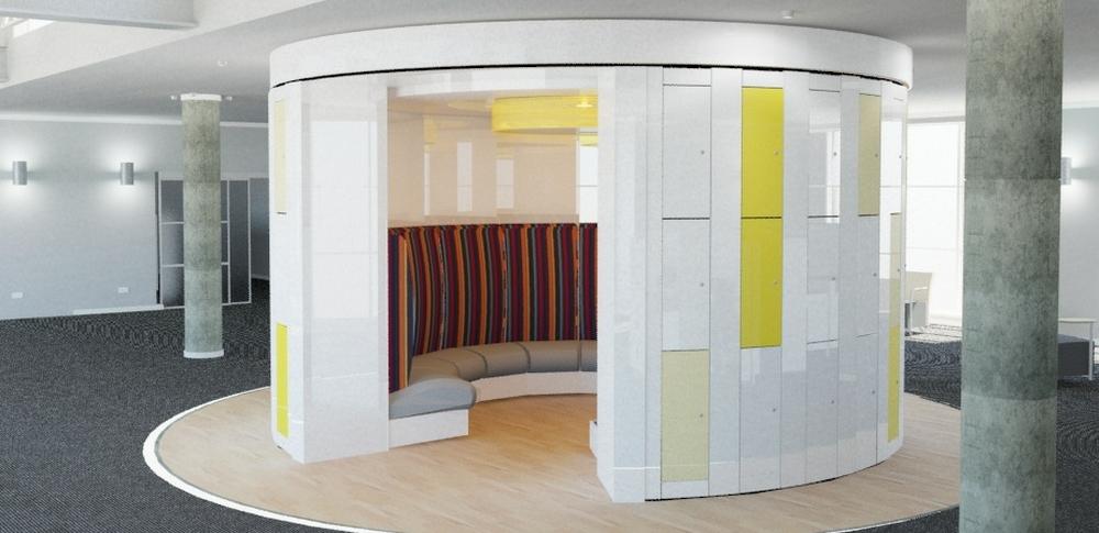 Storage Wall Solutions – Locker Wall 6