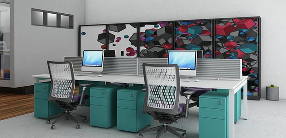 AOS Desk Mounted Screens – QB 3